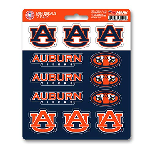 Auburn University Decals - ProMark NCAA Auburn Tigers Decal Set Mini (12 Pack), Team Color, One Size