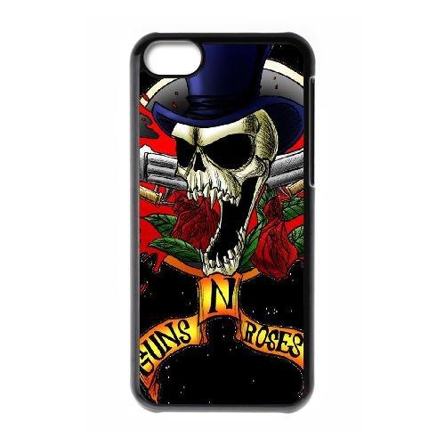 Q7B78 Guns N Roses N3Y3UE cas d'coque iPhone de téléphone cellulaire 5c couvercle coque noire RU8SDQ8KG