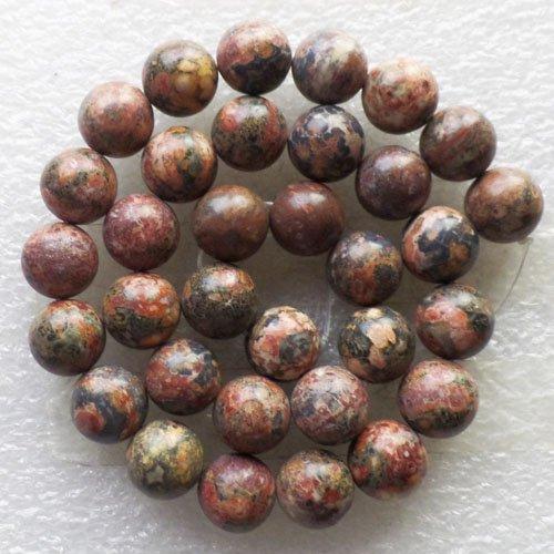 Yuteng Jewelry® 10mm Leopard Skin Jasper Round Loose Bead 15.5 Inch - Leopard Skin Jasper Round Beads
