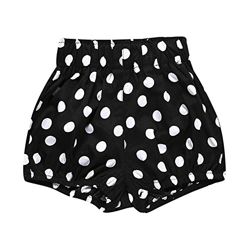 Birdfly Toddler Baby Basic Bloomers Diaper Cover Infant Boys Girls Bottom Shorts Cotton Clothes (24M, Polk Dots)