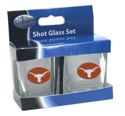 NCAA Texas Longhorns Shot Glass Set (Texas Longhorns Glass)
