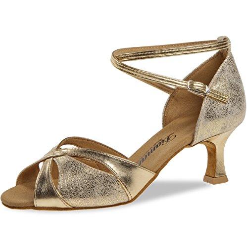 Diamant Mujeres Zapatos de Baile 141-077-464 - Dorado - 5 cm Flare