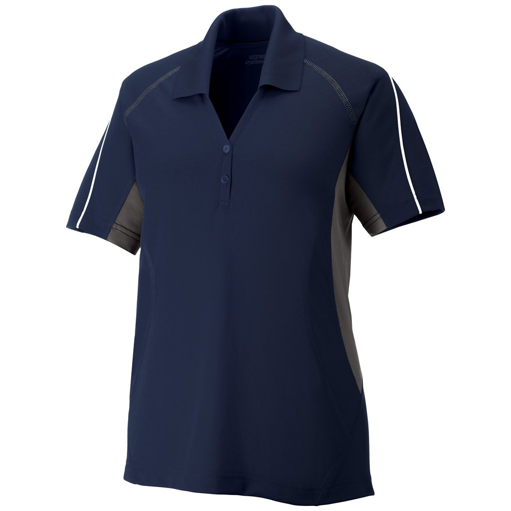 Ash City Ladies Parallel Polo (X-Small, Classic Navy/Black Silk/White) by Ash City Apparel