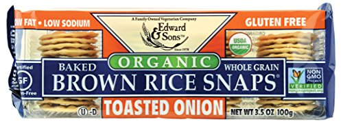 Brown Rice Snaps, Toasted Onion with Organic Brown Rice, 3.5-Ounce Packs (Pack of 12)