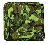Stansport T-1012-C Reinforced Multi-Purpose Tarp, Woodland Camo - 10 X 12-Feet