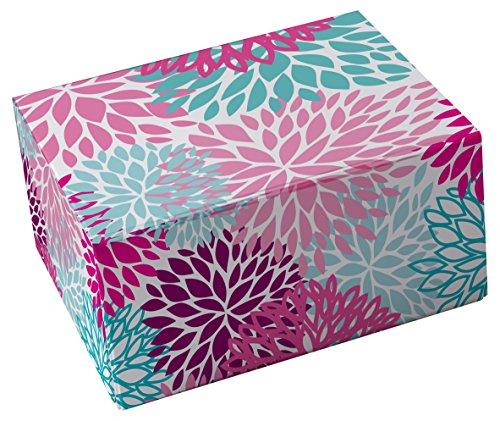 Snap-N-Store Storage Box 3-Piece Set, Small/Medium/Large, Colorful Mums -