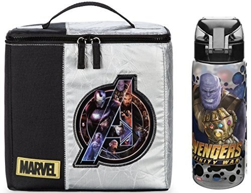 Marvel Avengers Insulated Lunch Box + Zak Tritan Avengers Water Bottle