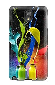Unique Design Galaxy Note 3 Durable Tpu Case Cover Splash Of Colors