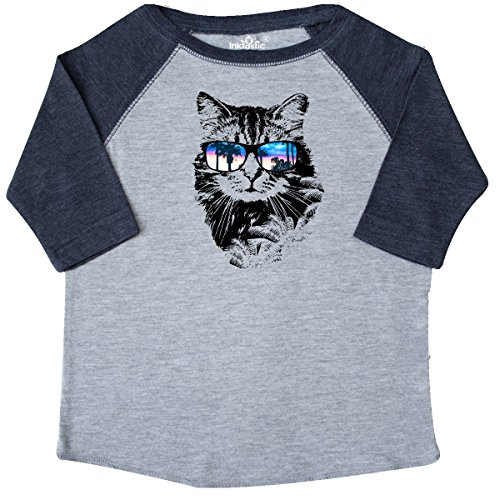 inktastic Cat With Sunglasses and Beach Toddler T-Shirt 2T Heather and - 4037 Sunglasses