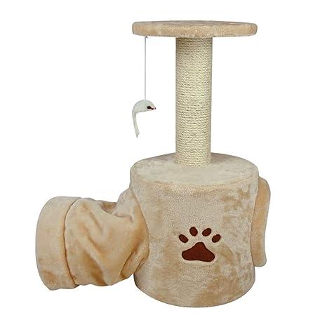 Árboles para gatos Árbol de Actividad del Gato con los Postes Que Rajan y el túnel, ...