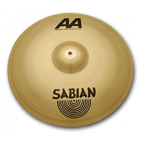 Aa Thin Crash Cymbal (Sabian 21607B 16-Inch AA Medium Thin Crash Cymbal - Brilliant Finish)