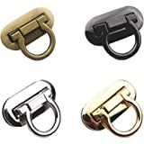 RAYNAG Set of 4 Ring Clasp Turn Lock Metal Hardware for DIY Handbag Shoulder Bag Closure Purse Making Supplies