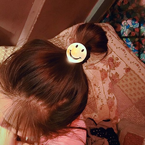 Generic Korean sm smiley Women Head hair rope Ties Ponytail Holder Band Hairband (happy every day)