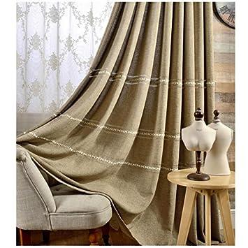 Amazon.de: 2er-Set Luxus Leinenvorhänge moderne Vorhänge für ...