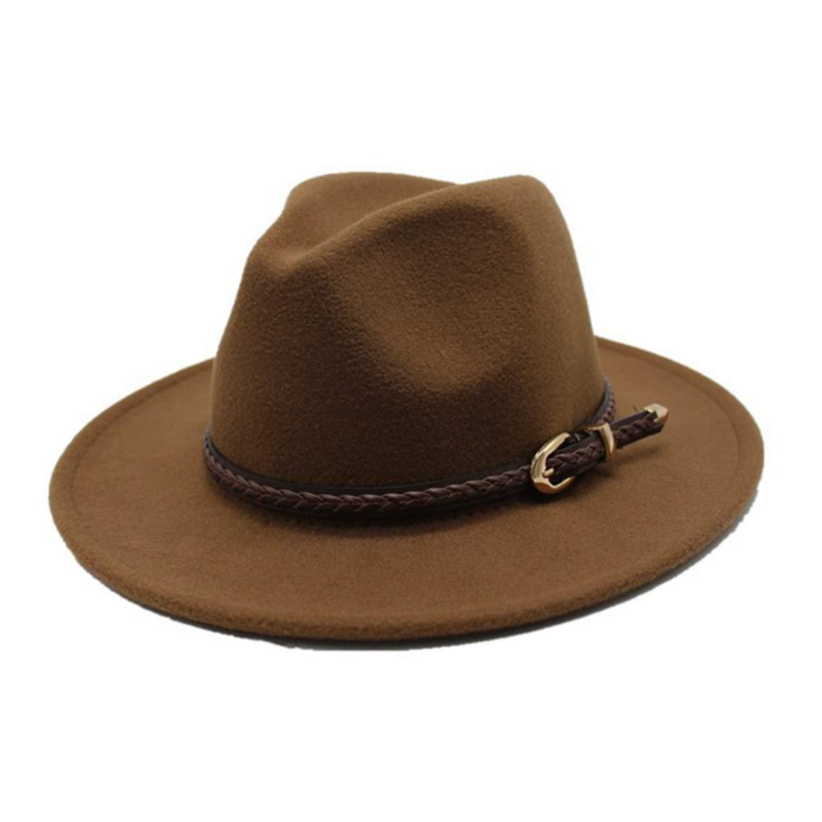 Parent-Child Wide Brim Fedoras Hats Classic Jazz Hat Belt Buckle Trilby Hats
