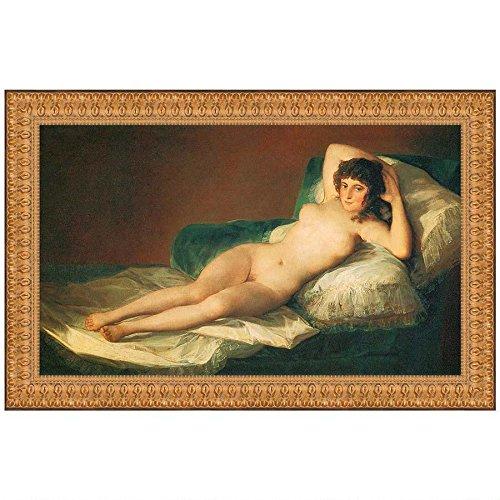 The Nude Maja (La Maja Desnuda), 1800, Canvas Replica Painting: Small DA2151