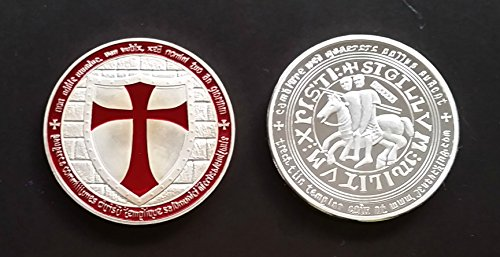 (1 Oz .999 Fine Pure Silver Layered Steel Coin Knights Templar - Grace Specialty 038)