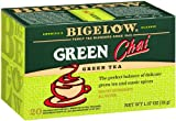 Bigelow Green Tea Chai 20-Count Boxes (Pack of 6) Caffeinated Individual Green Tea Bags, for Hot Tea or Iced Tea, Drink Plain or Sweetened with Honey or Sugar