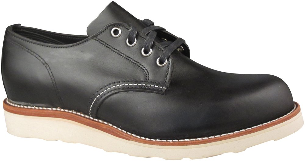 Original Chippewa Collection Men's 1901M43 4 Inch Plain Toe Oxford, Black Whirlwind, 9.5 D US