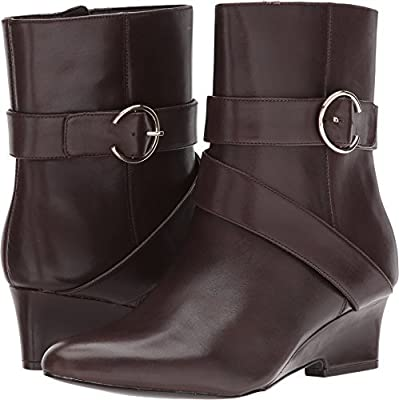 Nine West Women's Jauked Leather Mid Calf Boot