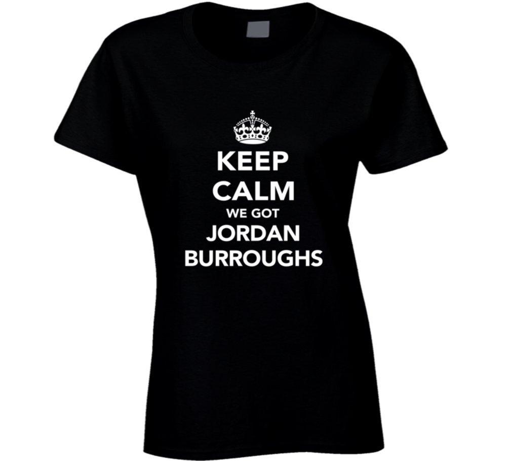 Jordan Burroughs Keep Calm USa 2016 Olympics Wrestling Ladies T Shirt 2XL Black