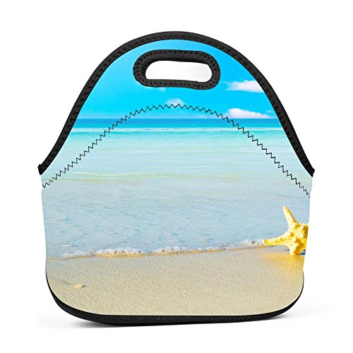 Lunch Bag Summer Backgrounds Bento Tote Bag Reusable Insulated Picnic Bag with Zipper -