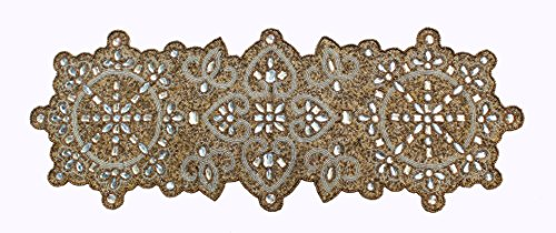 Cotton Craft - Beaded Table Runner - Palazzo - Antique Gold