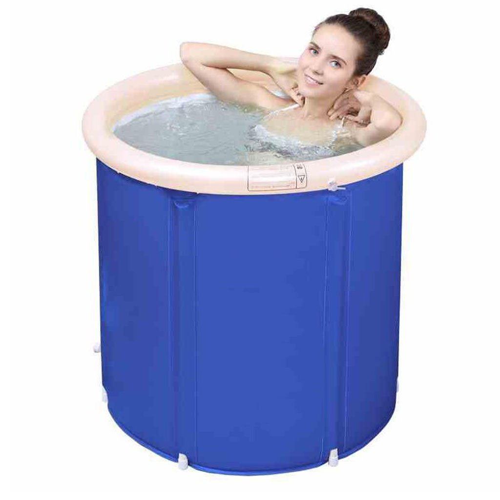 Medium YZ Inflatable Bathtub Bathtub Bathtub Adult Bathtub Folding Home Thickening Bathtub Bathtub (Size   M)