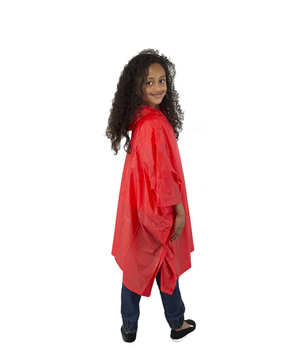 Rain Poncho Child Size Suit Ages 6-10 Years Waterproof EVA Material with Hood