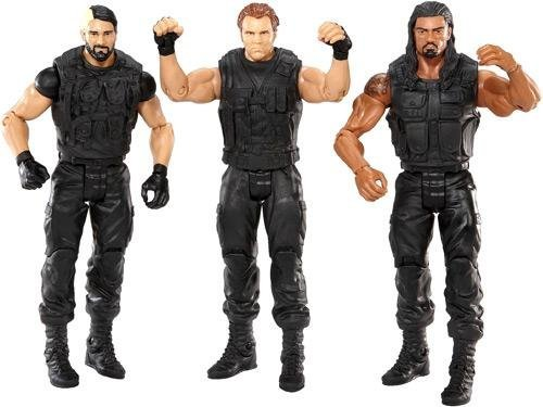 WWE THE SHIELD: Seth Rollins, Roman Reigns, Dean Ambrose Exclusive 3 (Wwe Shields)