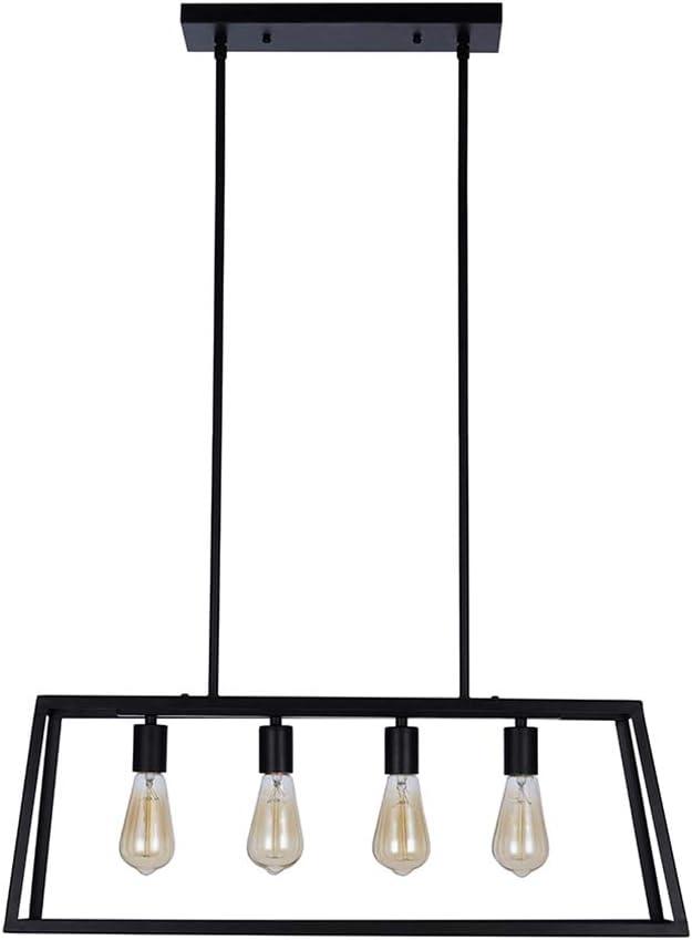 black modern chandelier