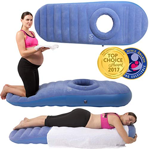 Back Bed 2 (Cozy Bump Pregnancy Pillow - 2-3 Day Shipping - Pregnancy Bed Inflatable Mattress (Blue))