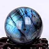 Large Rainbow And Blue Labradorite Sphere/Natural Labradorite Ball/Energy stone /Decoration/Special Gift-1pc