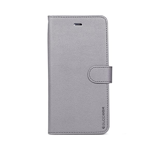 official photos d66ae f6577 BUDDIBOX iPhone 6s Case, [Wallet Case] Premium PU Leather Wallet Case with  [Kickstand] Card Holder and ID Slot for Apple iPhone 6S / 6, (Grey)