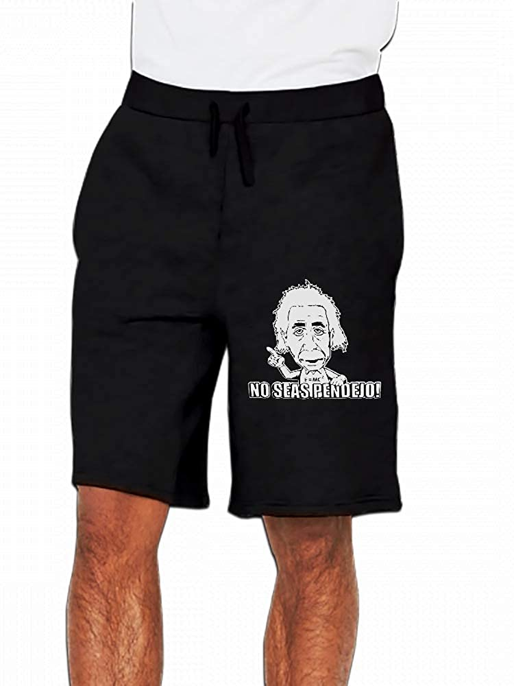 No Seas Pendejo Einstein Funny Mens Casual Short Trouser