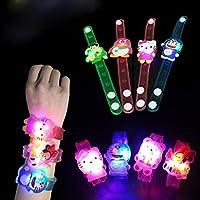 Jiada Cartoon Characters LED Light Bracelets Birthday Return Gifts for Kids (Set of 24)