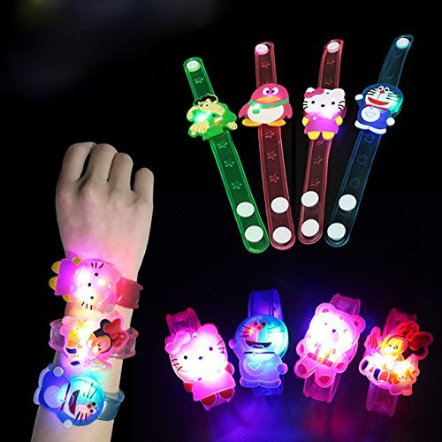 Buy Jiada Cartoon Characters LED Light Bracelets Return Gifts For Kids Set Of 24 Assorted Online At Low Prices In India