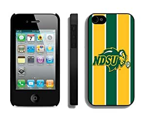 Cheap New Cell Phone Cases for Apple Iphone 4s 4g Iphone 4 Cover Mobile Accessories Protector Ncaa North Dakota 6