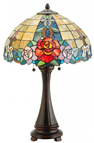 "Lumtopia Meyda Tiffany 138121 Rose Vine Table Lamp, 25"" H..."