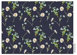 Izabela Peters Impermeable De Diseño Jardín Exterior Mantel - Flores Silvestres - Lakeland Colección - Diseñado Estampado & Hecho a Mano en el Reino Unido (Seleccione Longitud) - Grafito