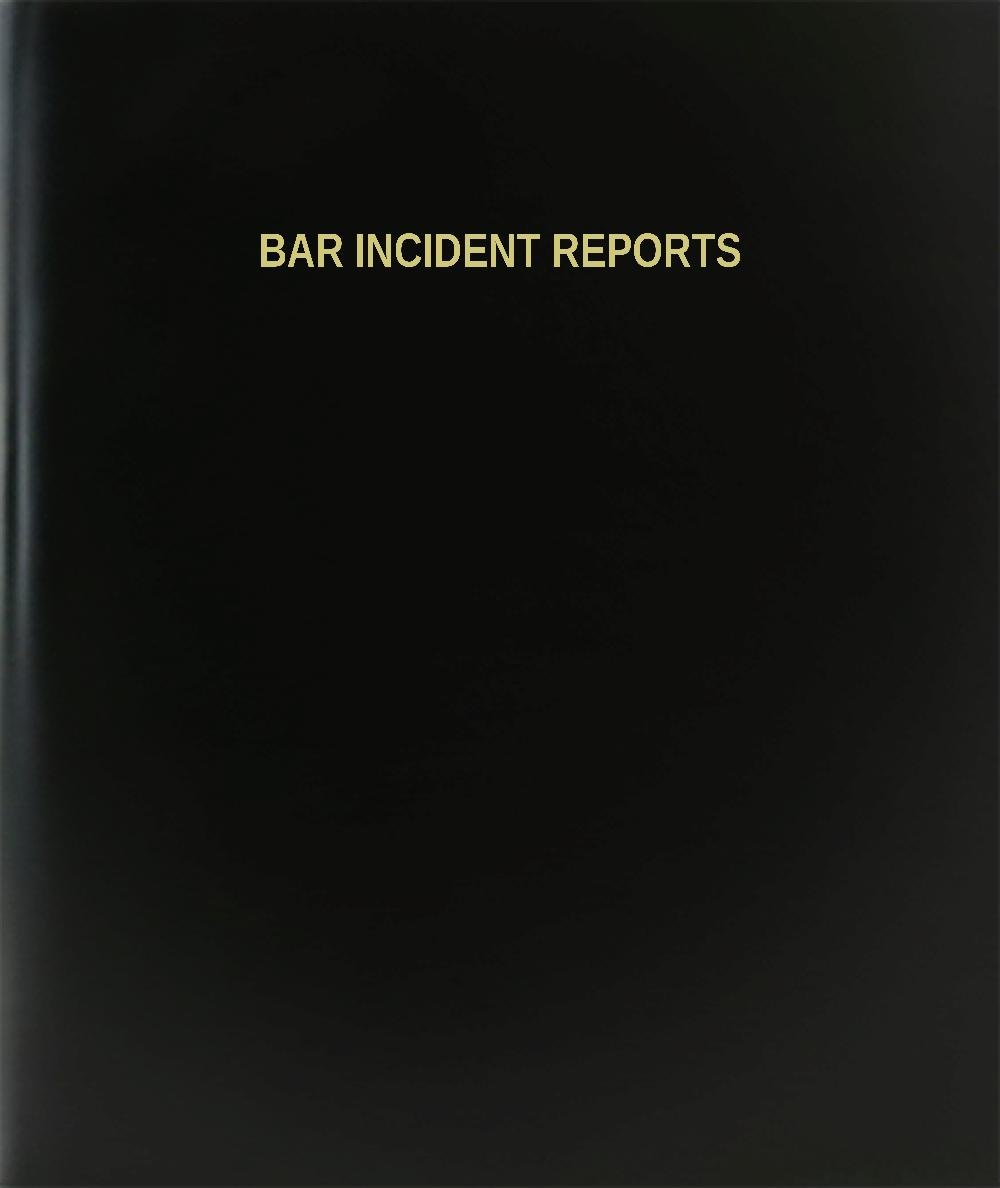BookFactory® Bar Incident Reports Log Book / Journal / Logbook - 120 Page, 8.5''x11'', Black Hardbound (XLog-120-7CS-A-L-Black(Bar Incident Reports Log Book))