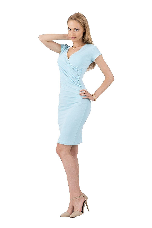 Damen Kleid mit Dekolleté 36 38 40 42 44