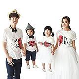monfimafi Baby Boys' Couple Heart Family Short T-Shirt MM White