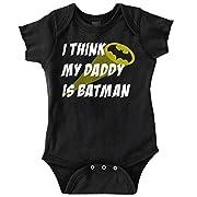 Daddy Batman Cool Superhero Dark Knight DC Comics Superman Romper Bodysuit