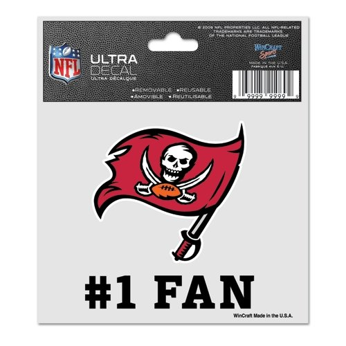(WinCraft NFL Tampa Bay Buccaneers 95632014 Multi-Use Decal, 3