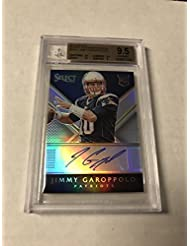 2014 Panini Select Jimmy Garoppolo Rc Auto Prizm Refractor 38/75 Bgs 9.5/10 - Panini Certified - Football Slabbed Autographed Rookie Cards