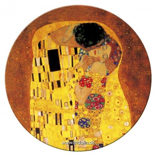 '' Fridolin specchio tascabile, 7,6cm Klimt Il Bacio in metallo 18512