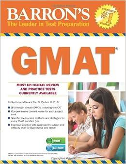 GMAT (Barron's Gmat) (Barron's GMAT (W/CD))