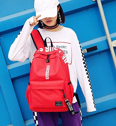 TOPSTORE01 Lona Mochila Junior High School Estudiantes De Viajes Al Aire Libre Para Niños Niñas Color2