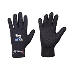 If you're looking for a glove that provides the best of everything-warmth, comfort and mobility-, you've found it in IST S326 2.5mm Form Fitting Super Stretch Neoprene Gloves with Grip Dots.  These gloves will keep your hands warm in temperat...
